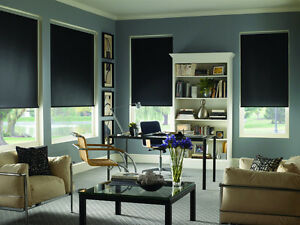 Custom Dim-Out and Blackout Roller Shades (Surrey & White Rock)