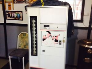 Beer fridge and antique stove