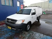 2006 Toyota Hilux TGN16R 06 Upgrade Workmate White 5 Speed Manual Cab Chassis Homebush West Strathfield Area Preview