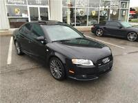 2007 AUDI A4 S LINE*6SPD*TITANIUM PKG*BLK ON BLK*CLEAN CARPROOF