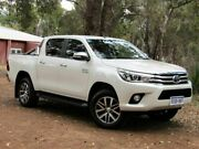 2015 Toyota Hilux KUN26R MY14 SR5 Double Cab White 5 Speed Automatic Utility Kalamunda Kalamunda Area Preview