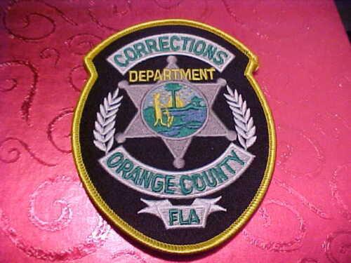 ORANGE COUNTY FLORIDA CORRECTIONS POLICE PATCH SHOULDER SIZE UNUSED
