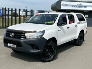 2016 Toyota Hilux GUN125R Workmate Double Cab White 6 Speed Sports Automatic Utility New Lambton Newcastle Area Preview