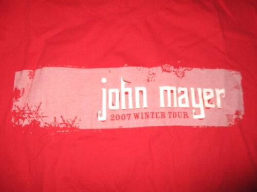 "2007 JOHN MAYER ""WINTER TOUR"" Concert (MED) T-Shirt"