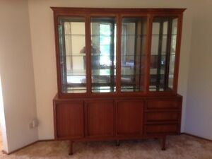 Mid Century Retro Chiswell Side board with glass display cabinet Port Macquarie Port Macquarie City Preview
