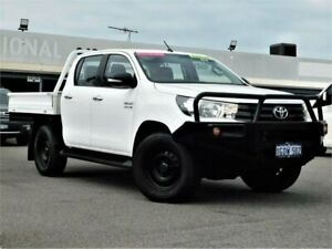 2016 Toyota Hilux GUN126R SR Double Cab White 6 Speed Sports Automatic Cab Chassis Bibra Lake Cockburn Area Preview