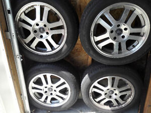 "Set of 17"" Alloy Rims with Pirelli Tires - $550 OBO"