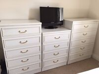 White Bedroom furniture - 5 Units
