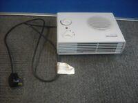 Fan Heater . 2.2 kW Brand - Micromark . Cable is 150cm long .