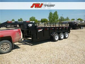 NEW SWS G/N 16' HYD Dump Trailer 2017