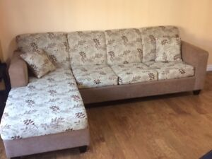2 section corner coach convertible to Queen Bed