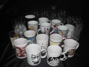 Lot de 31 articles (tasses, coupes)