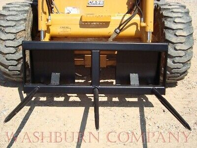 Skid Steer Hay Bale Mover 3 Spear 48 Long 4 Wide Hd Frame