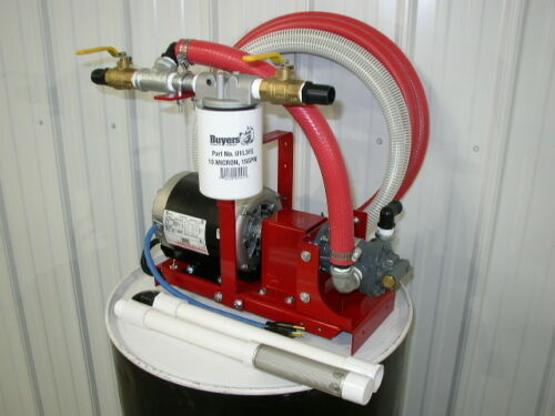 New Redline 1/2 HP Bulk/Waste Oil Transfer/Filtration Pump,Mineral/Silicone Oil