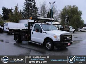 2011 FORD F-350 SUPER DUTY XL REGULAR CAB FLAT DECK DUALLY