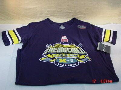 NWT U Of M Michigan Big Chill Hockey T Shirt Women's Ann Arbor Arby's Go Blue