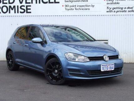 2015 Volkswagen Golf VII MY15 90TSI DSG Blue 7 Speed Sports Automatic Dual Clutch Hatchback