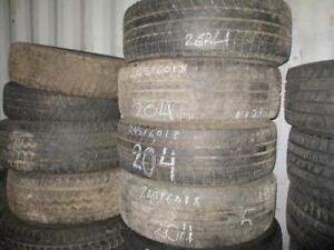 245/60 R18 MICHELIN LATTITUDE WINTER TIRES USED SNOW TIRES (SET OF 4 - $260.00 INSTALLED + TAX) - APPROX. 85% TREAD