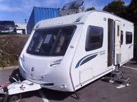 Sterling Eccles Jewel FIXED BED Inc Awning and Motor Mover 4 Berth Touring Caravan.