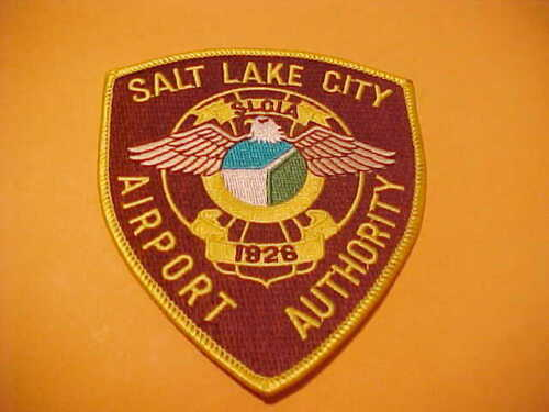 SALT LAKE CITY UTAH AIRPORT POLICE PATCH SHOULDER SIZE UNUSED