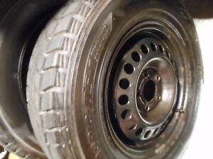 2 new Dunlop Graspic DS-1, 215-70-15 snow tires on Buick rim Cambridge Kitchener Area image 2