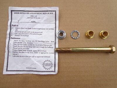 DOOR HINGE PIN & BUSHING REPAIR KIT!- 1994-2003 DODGE RAM 1500 2500 3500 544-20