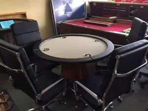 New hand made poker table with super comfortable chairs