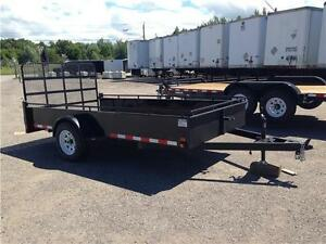 (2016) 6x12 SINGLE AXLE STEEL SIDE UTILITY TRAILER - MESH RAMP