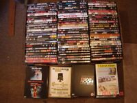 100 VARIOUS USED DVDS FROM A PRIVATE COLLLECTION (IN GOOD CLEAN CONDITION) LOT#4