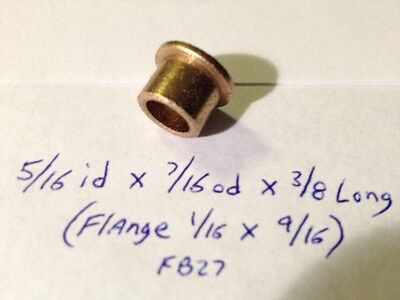 Oilite Flange Bushing Bronze 516 Id X 716 X38 Brass Bush Shim Spacer Bearing