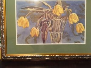 """Tulips by a Canadian artist """" Happy Yellow Faces """""""