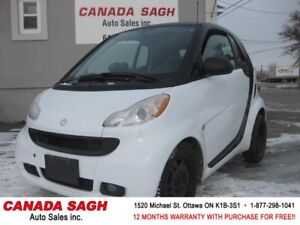 2011 smart fortwo,ONLY 47K, AC, 12 M WRTY+SAFETY 5990