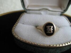 ELEGANT OLD VINTAGE 14K YELLOW GOLD SIGNET RING