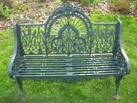 HEAVY VICTORIAN IRON BENCH OVER 100 YEARS OLD