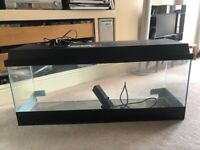 Large Aquarium with fitted light canopy