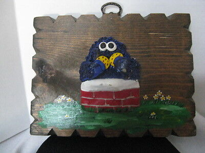 Cookie Monster Wood Hanging Picture ~ **Gift Idea
