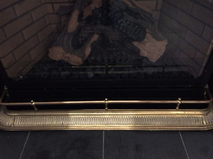 Solid Brass Fireplace Grill Decor for Sale!