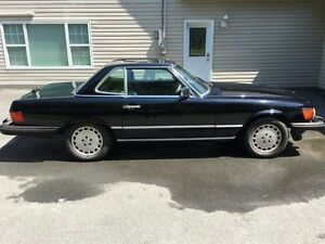 1989 MERCEDES BENZ 560SL BLACK ON BLACK