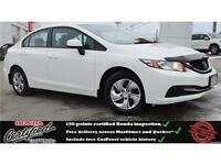 2013 Honda Civic LX, Heated Seats, Bluetooth, One Owner !!