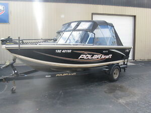 2006 17ft POLAR KRAFT 169 WITH 90 HP ETEC