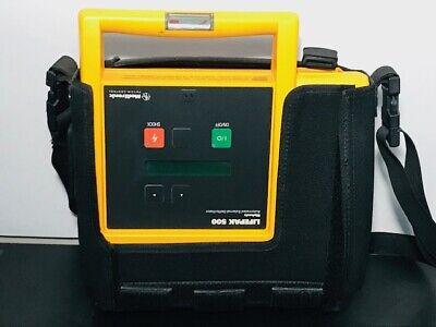 Lifepak 500 Biphasic Ecg Machine Wcase -- Untested For Partsas-is No Battery