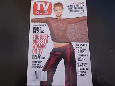 Debra Messing  Lisa Marie Presley    Tv Guide Magazine 2003