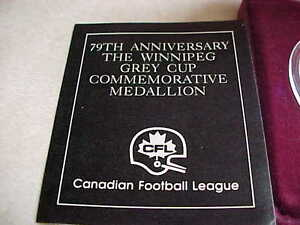 Canadian 79th Anniversary 1 Ounce Silver Medallion Grey Cup!! London Ontario image 2