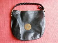 "Rare black Mulberry ladies handbag approx. 16"" wide x 13"" deep. 2 internal pockets,"