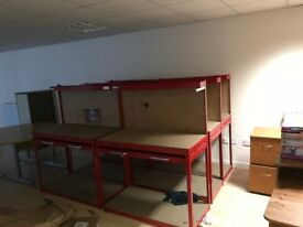 Job Lot of Workshop and Office Furniture to Clear