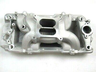 Chevy 454 Aluminum Oval Port Air Gap Intake Manifold Satin BPE-4018