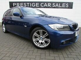 BMW 3 SERIES 2.0 318D M SPORT TOURING 5d 141 BHP (blue) 2012