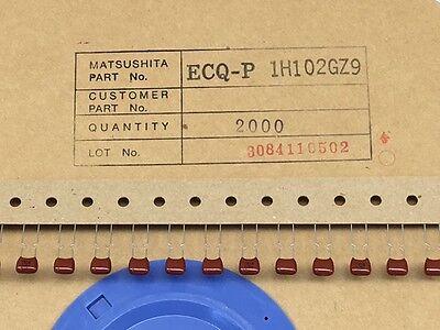 50 Pcs Ecq-p1h102gz9 Panasonic 0.001uf 50v 2 Polypropylene Film Capacitor