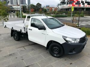 2017 Toyota Hilux TGN121R Workmate 4x2 White 5 Speed Manual Cab Chassis South Melbourne Port Phillip Preview