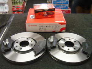 citroen c4 2 0hdi vts brembo front brake disc pads ebay. Black Bedroom Furniture Sets. Home Design Ideas